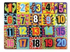 Melissa & Doug Jumbo Numbers Chunky Puzzle #3832 New Sealed