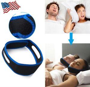 Snore Stop Belt Anti Snoring Cpap Chin Strap Sleep Apnea Jaw Solution TMJ Blue 17874021604