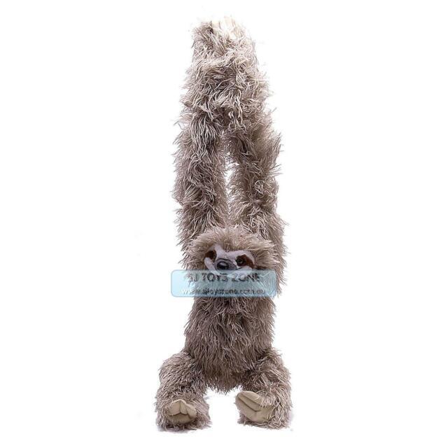 Wild Republic Hanging 3 Toed Sloth Soft Animal Plush Stuffed Toy for Kids