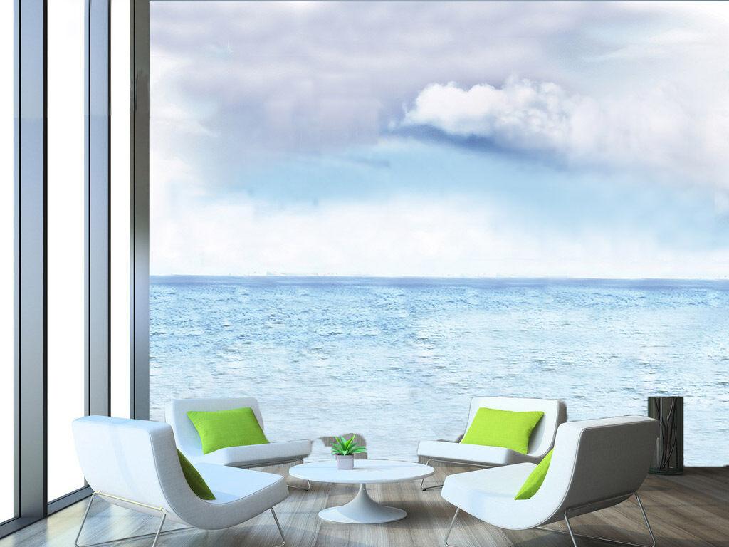 3D Blau das Meer 3221 Fototapeten Wandbild Fototapete BildTapete Familie