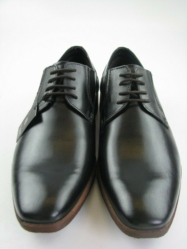 Bugatti caballeros 313-15902-1000 Business negro de cuero en gr43