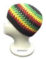 Kufi Cap Skullcap Hat Rasta Reggae Jamaica Africa 100% Cotton Handmade Sm Fit