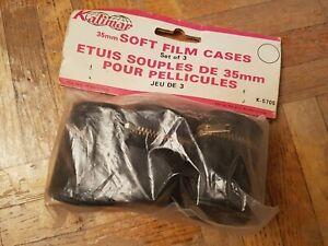 Etui Souple 35 mm Pour 3 Peliculles Argentiques / vintage Photo / Neuf