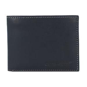 Vintage-Portemonnaie-RFID-cuir-13-cm-noir