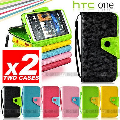 6 Colors Colorful Season Leather Wallet Flip Stand Case Cover For HTC ONE M7 Zoe