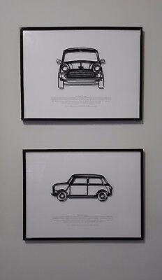 A3 Mini Austin Seven Car Advert 1960s #1 Wall POSTER Print Art Retro