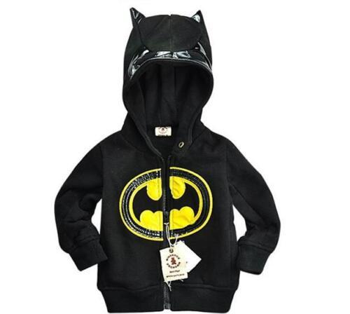 Batman Hoodie Warm Fleece Jacket Boys Superhero Jumper NEW Black Christmas gift