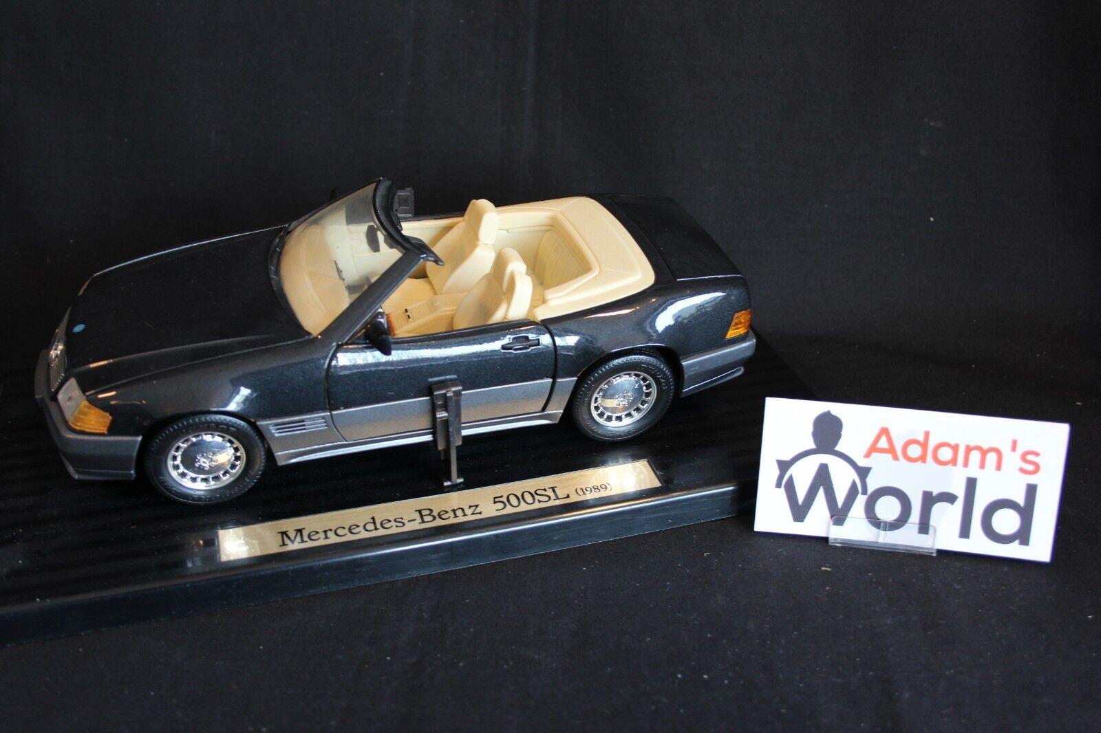 Bauer Master Toys Mercedes-Benz 500 SL Roadster 1989 1 18 dark gris (JS)