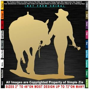Cowgirl Cadillac Truck Rodeo Roping Barrel Country Pickup Horses Sticker Decal