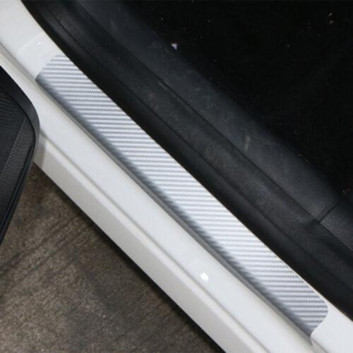 4PC* Car Door Sill Scuff Carbon Fiber Sticker Welcome Pedal Protect Accessories