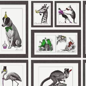 Mad-Dogs-Wallpaper-Animal-Print-Bold-Collage-Black-amp-White-Multi-Holden-Decor