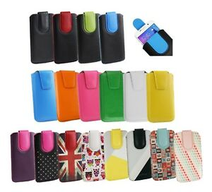Stylish-PU-Leather-Pouch-Case-Sleeve-has-Pull-Tab-Fits-Lenovo-K10-Plus