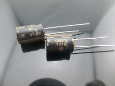 10pcs 47uF 50V ELNA TONEREX ROB for audio HiFi electrolytic capacitor BLACK JP
