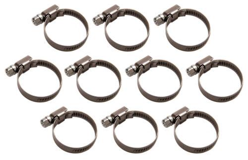 Lot de 10 colliers de serrage inox 32x50 mm pour tuyau Ø 32mm à 50mm serflex
