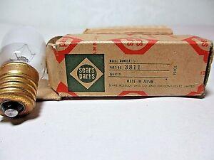 Vintage Sewing Machine Light Bulb Sears, Roebuck & Co & Simpsons-Sears Orig Box