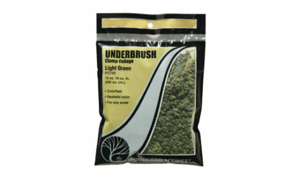 Woodland Scenics WFC135 Landscaping Underbrush-beflockungsmaterial Light Green