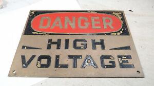 Danger Haute Tension laiton lourd signe-afficher le titre d`origine LzffEmrP-09164449-415640819