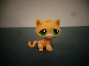 Littlest Pet Shop Lps Orange Short Hair Cat Kitten 110 Green Dot