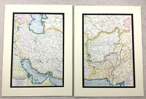 1920-Antique-Prints-Map-of-Persia-Afghanistan-Balochistan-Pakistan-Middle-East