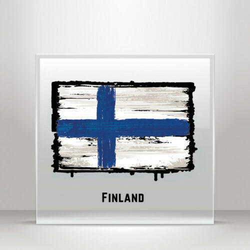 Decal Sticker Flag Finland Atv Bike polymeric vinyl Garage A19 3X223