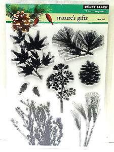 8737eaac2d70 Penny Black Natures Gifts Clear Stamp Set 30-251 New! 759668302512 ...