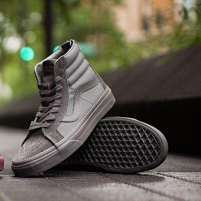 Vans Sk8 Hi Reissue Zip Mono Tornado Gray Men's Size 11.5 New In Box Skate Shoe