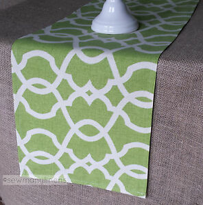 Merveilleux Details About Lime Leaf Green Table Runner Dining Room Home Decor Lattice  Moroccan Linens