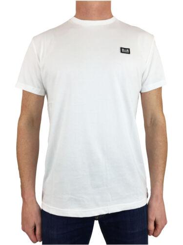 Weekend Offender Homme Ishiguro TSSS 1801 Solide Couleur Badge Tee T-Shirt en Blanc
