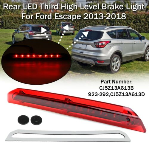 Rear LED 3rd Third High Trunk Brake Stop Light Lamp For Ford Escape 2013-2018