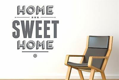 Home Sweet Home Show Case Wall Stickers Decals Art Quotes