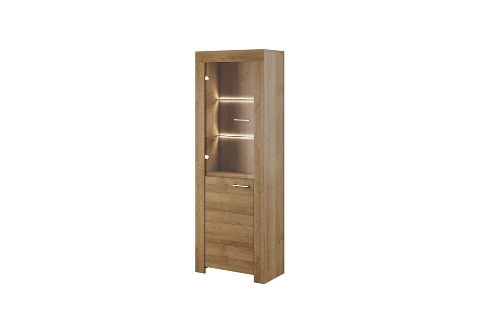Vitrina armario cómoda sala de estar vidrio estante vitrinas estanterías madera armarios nuevo