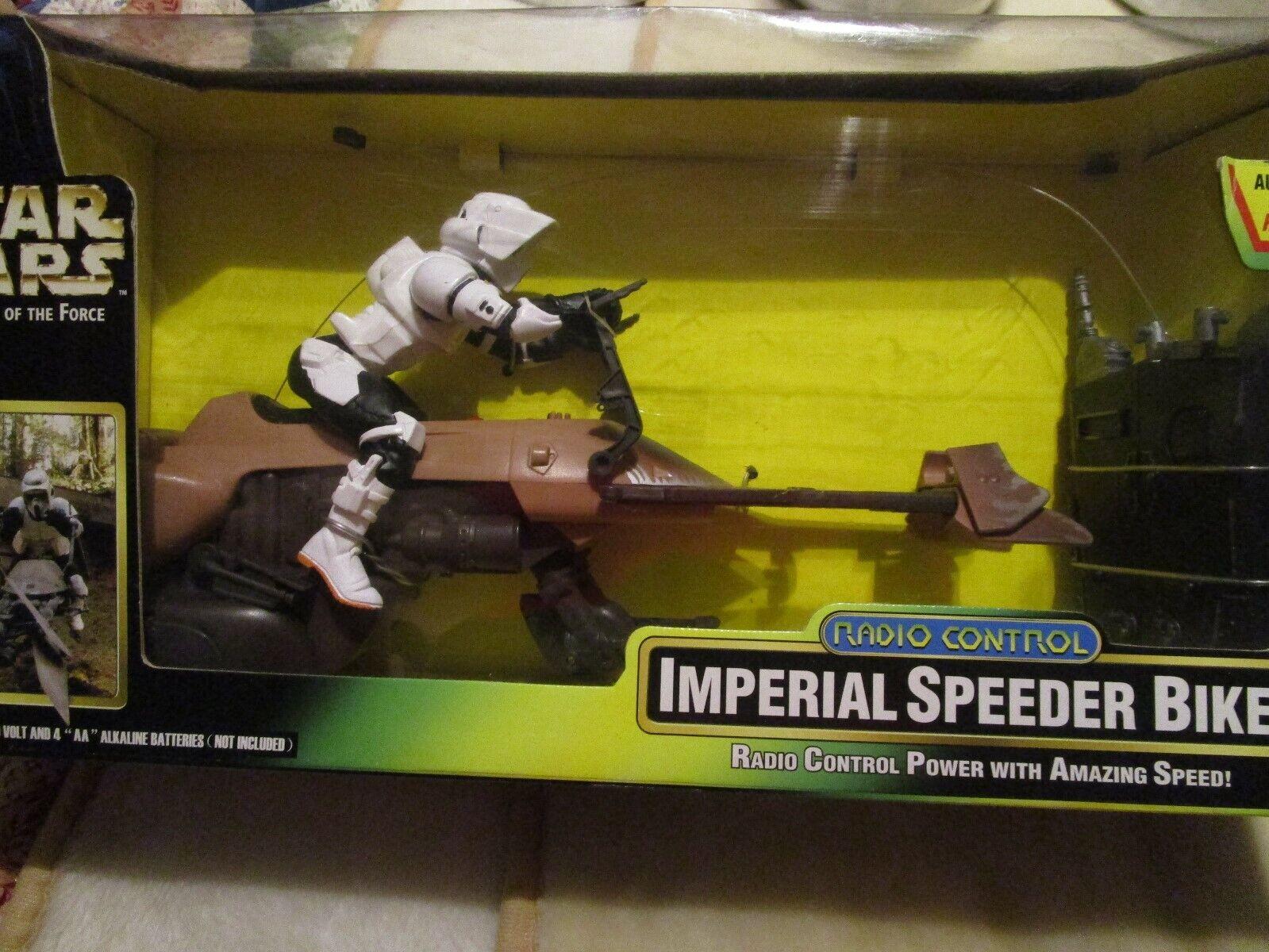Star Wars Power Of The Force Radio Control Imperial Speeder Bike NIB