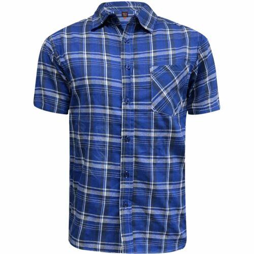 Da Uomo manica corta COTONE Estate Camicia Casual Lavoro Ex-Store Casual Tops
