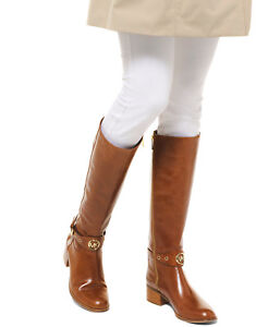 best supplier superior quality various kinds of Details about Michael Kors MK Women's Leather Knee High Dark Caramel Riding  Boots Heather