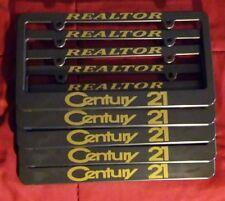 FIVE (5) new CENTURY 21 custom license plate frames realtor real estate