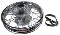 12 In Rear Disc Rim W/hub, Bearings,spokes (50mm Rotor Hub, 52mm Sprocket Hub)