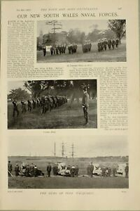 1897-PRINT-NEW-SOUTH-WALES-NAVAL-FORCES-STRETCHER-PARTY-DRILL-FORT-MACQUARIE