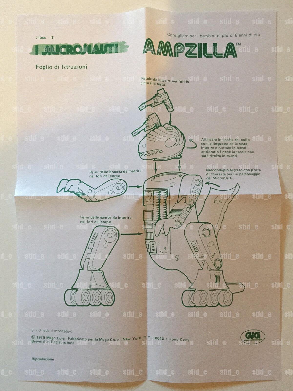 MICRONAUTS MICRONAUTI   AMPZILLA REPRO ISTRUCTIONS ISTRUZIONI   MEGO GIG 1979 HQ