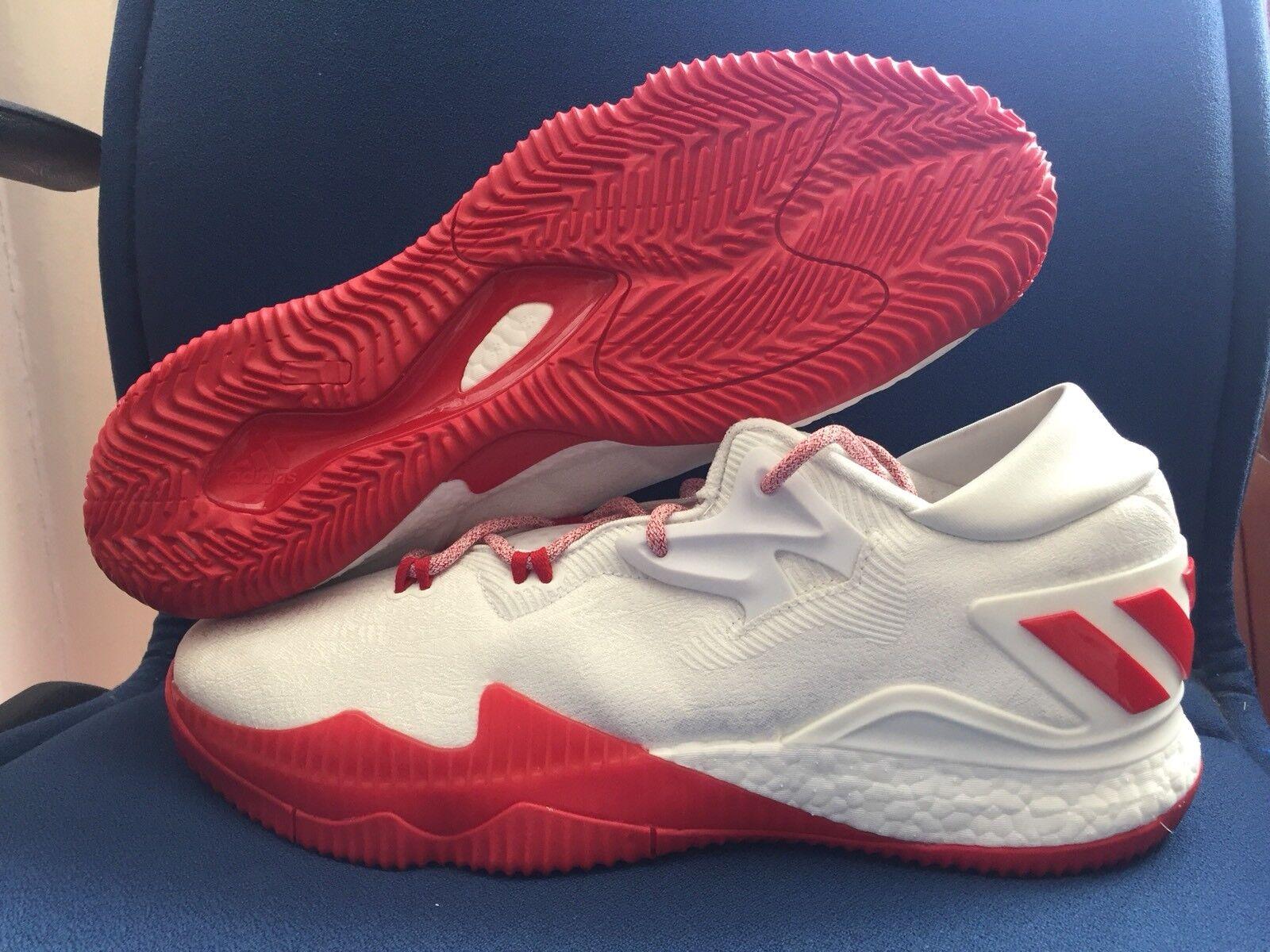Adidas Crazylight Boost Low 2016 James Harden Houston White Rockets PE Sz 14 White Houston Red aea859