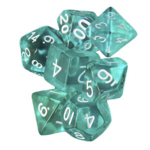 7-Pcs-Turquoise-Polyhedral-Set-Cloud-Drop-Translucent-Teal-RPG-DnD-With-Dice-Bag
