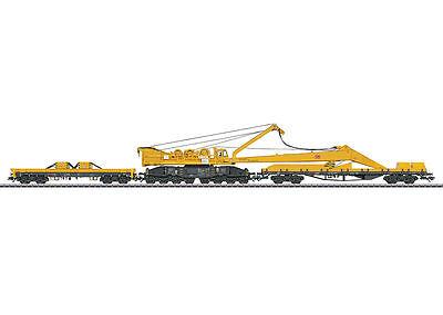 Trix 23540 Wagen-Set mit Kranwagen Bauart 100 und Auslegerschutzwagen Bauart 817