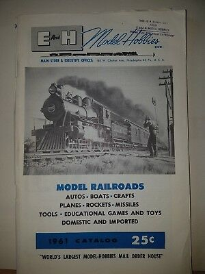 Competente E And H Model Hobbies Inc Model Railroads Catalog 1961