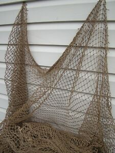 Authentic fishing net 10 39 x 10 39 vintage fish netting for Fishing net decor