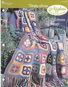 Crochet-Pattern-WILDFLOWERS-SCRAP-Afghan-Instructions