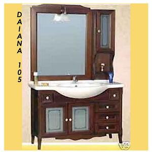 Mobile bagno arte povera arredamento 105 cm daiana for Arredamento bagno arte povera