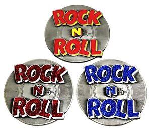 style distinctif acheter pas cher sélectionner pour authentique Détails sur Americana Boucle de ceinture rock n roll music 45 tr/min Vinyle  3 Couleurs authentiques- afficher le titre d'origine