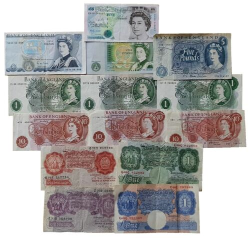 OLD BRITISH BANK NOTES 10 SHILLINGS ONE POUND £1 FIVE POUNDS £5 CHOOSE YOUR TYPE