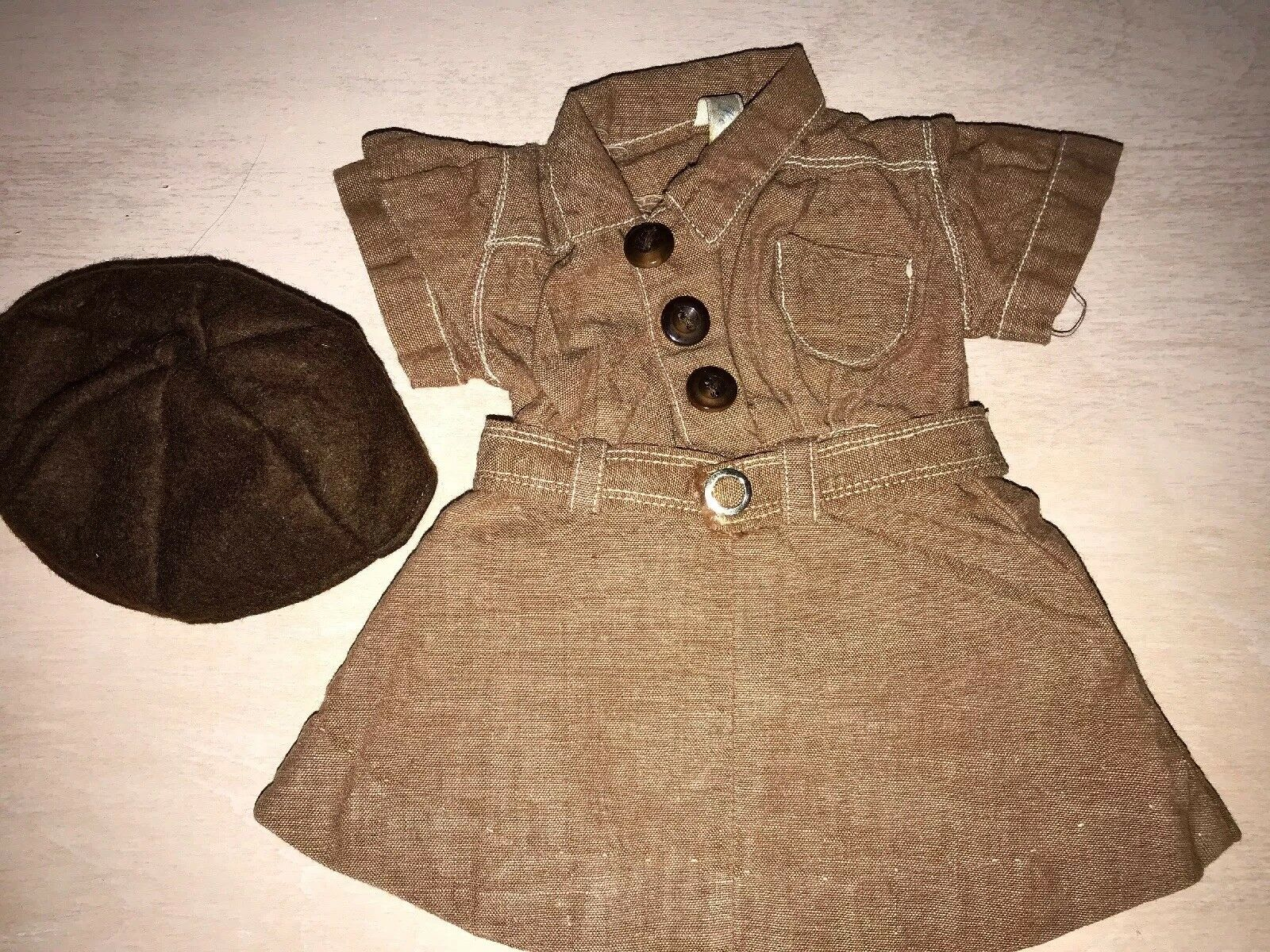 Doll Terri Lee Clothing EARLY LOOPY TAG braunie Uniform COMPLETE OUTFIT 1950's