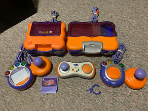Lot-Of-Vtech-V-Smile-TV-Learning-Video-Game-System-Bundle-Controllers-Consoles