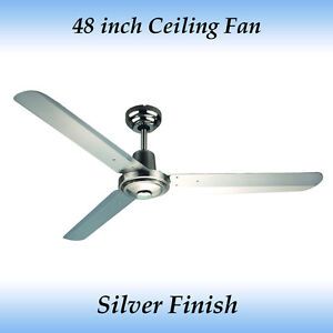 Sparky 48 inch (1200mm) 3 Blade Silver Stainless Steel Ceiling Fan